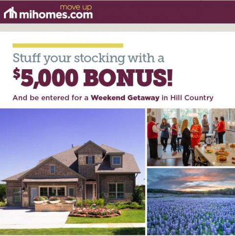 Earn a 5K Bonus and Win a Weekend Getaway with M/I Homes – Offer ends 12/31