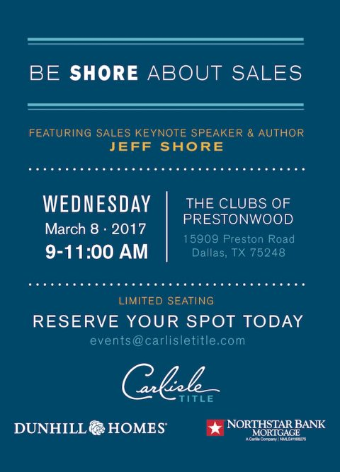 Be SHORE About Sales – Featuring World Renowned Sales Trainer & Author, Jeff Shore