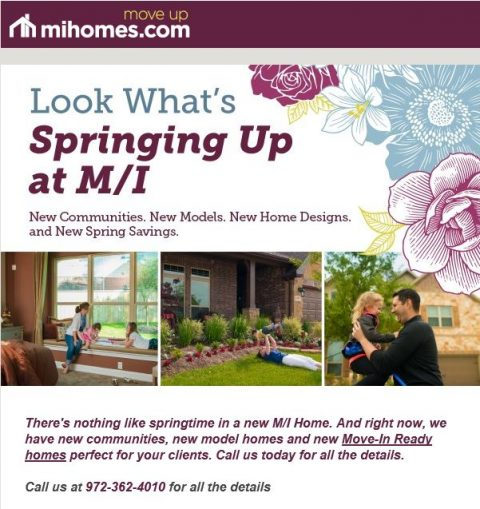 Look What's Spring Up at M/I Homes
