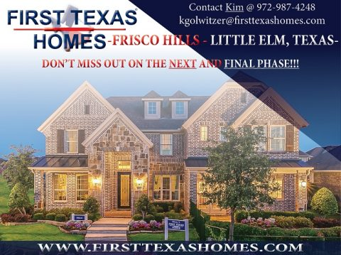 Frisco Hills – Final Opportunities!!!